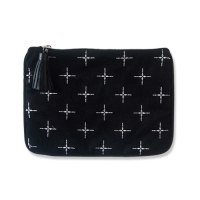 white cross medium pouch