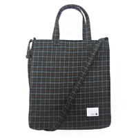 WOOL SUGAR BAG CHECK BALCK  (입금자순 발송)