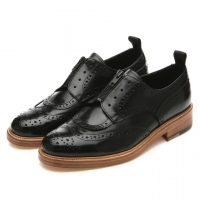 2WAYS ZIPPER WING-TIP (Black)