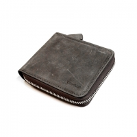 [VERMILAN] 버밀란 지퍼반지갑 Oil Pull up Leather Zipper Wallet - gray